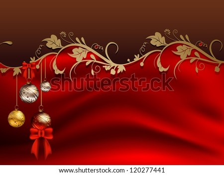beauty christmas card with floral decoration