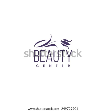 Beauty clinic logo design vector template. Tulip icon - stock vector