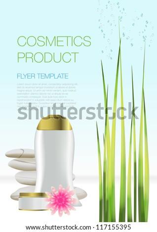 Beauty cosmetic flyer - stock vector