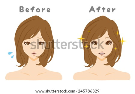 Beauty Face Care - stock vector