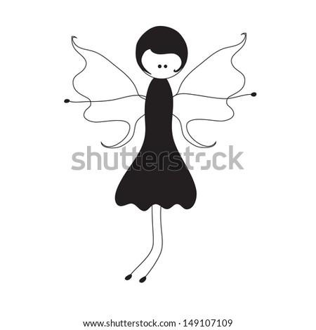 Beauty fairy - stock vector