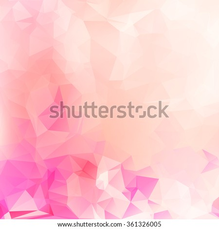 Beauty & Fashion concept abstract geometric beautiful background with soft color tones - stock vector