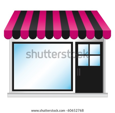 Beauty fashion store. Vector illustration. - stock vector