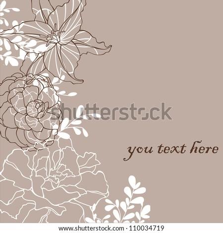 beauty  flower - stock vector