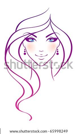 Beauty girl - stock vector