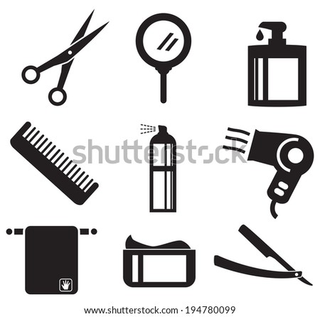Beauty icon set - stock vector