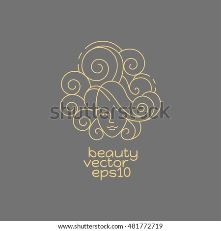 Logo wedding salon ornate couple rings stock vector for Abstract beauty salon