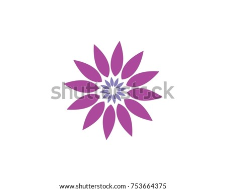 Beauty lotus flower logo icon template stock vector 753664375 beauty lotus flower logo icon template pronofoot35fo Choice Image