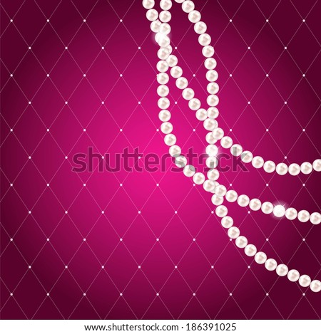Beauty Pearl Background Vector Illustration - stock vector