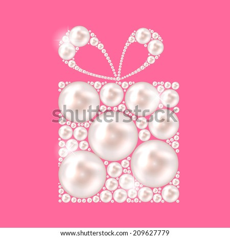 Beauty Pearl Gift Background Vector illustration - stock vector