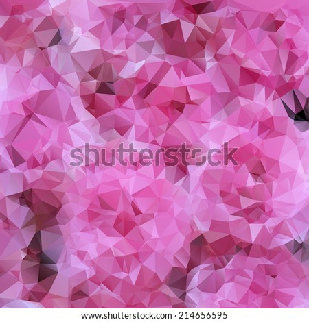 Beauty pink pattern. Vector contemporary abstract geometry background. Lovely color banner. Harmony digital backdrop. Light effect texture. Modern and trendy design. Fine creative crumpled polygon. - stock vector