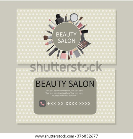 Beauty salon beauty makeup care cute stock photo photo vector beauty makeup care cute design of business cards for beauty reheart Choice Image