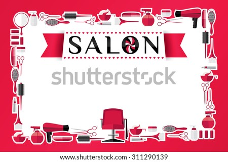 Beauty Salon Design Vector Illustration