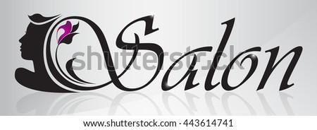 beauty salon logo design template. - stock vector