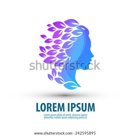 Beauty salon. Logo, icon, emblem, template - stock vector