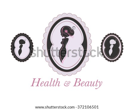 Beauty Salon Logo Womans Silhouette Body Stock Vector 372106501 ...