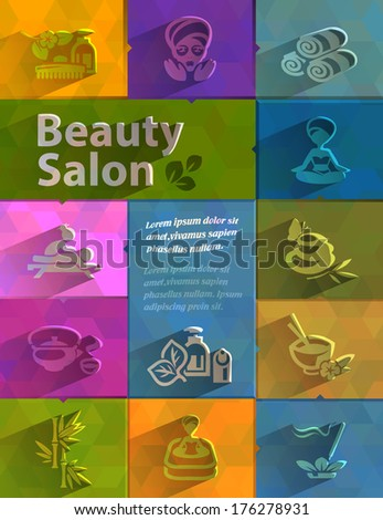 Beauty salon. Vector format - stock vector