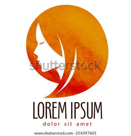 beauty salon vector logo design template. Spa or cosmetic icon. - stock vector