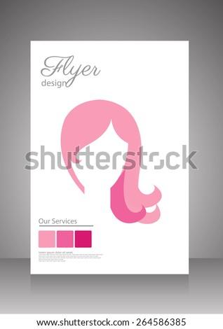 beauty saloon,spa and hair style flyer,brochure template. vector - stock vector