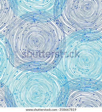 Beauty seamless spiral pattern. Vector texture - stock vector
