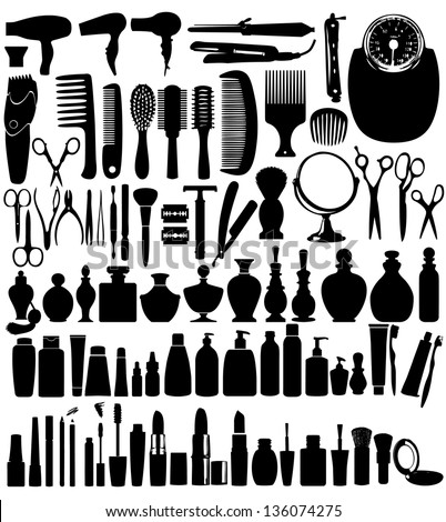 Beauty Set - stock vector