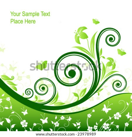 Beauty spring card. Vector.