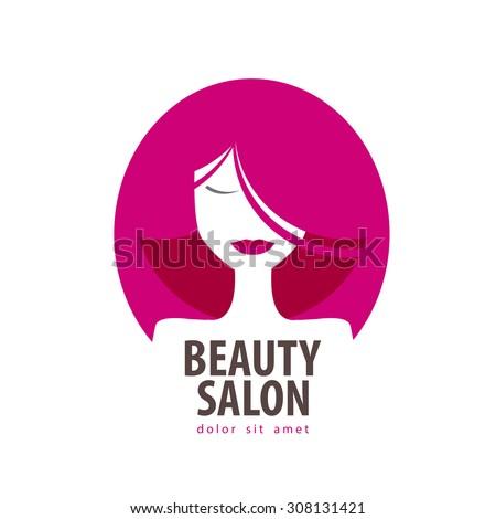 beauty vector logo design template. cosmetic, makeup or girl, woman icon - stock vector