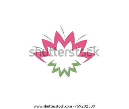 Beauty lotus flower logo icon template stock vector 753664363 beauty vector lotus flowers design logo template icon pronofoot35fo Choice Image