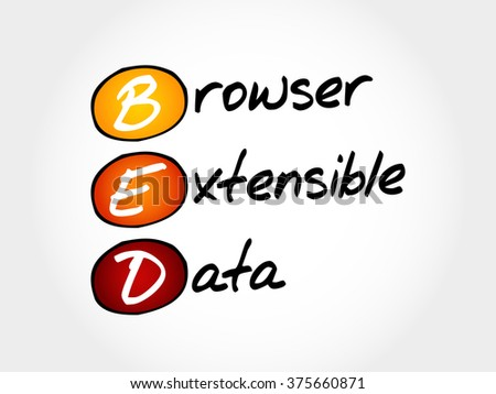 BED - Browser Extensible Data, acronym concept
