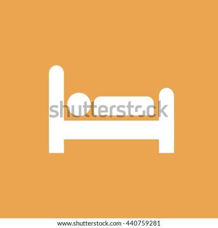 Bed icon. Man sleeping vector illustration