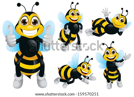 Bee Character - stock vector