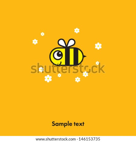 bee icon - stock vector