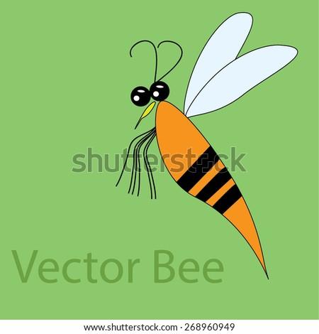 bee vector - stock vector