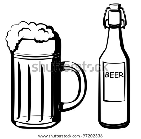 beer - stock vector
