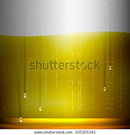 Beer background. Realistic vector illustration - stock vector