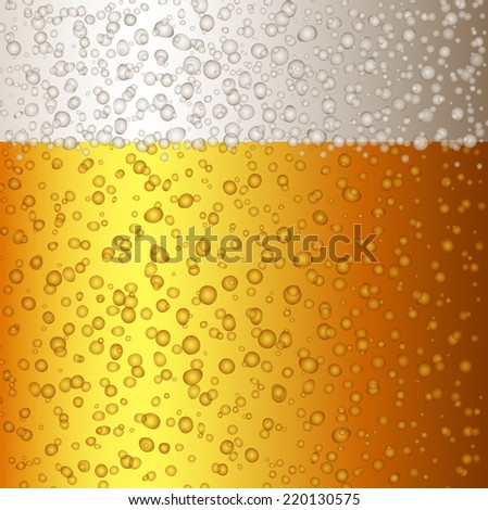 Beer background with bubbles - stock vector