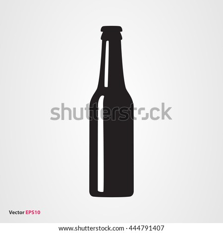 beer bottle vector icon stock vector hd royalty free 444791407 rh shutterstock com beer bottle vector silhouette beer bottle vector transparent background