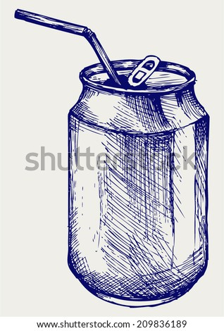 Beer can. Doodle style