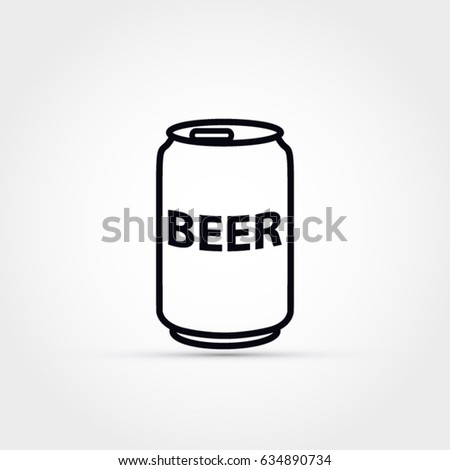 beer can vector icon stock photo photo vector illustration rh shutterstock com beer can vector free download beer can silhouette vector