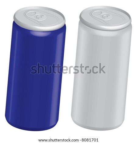 Beer Cans - stock vector