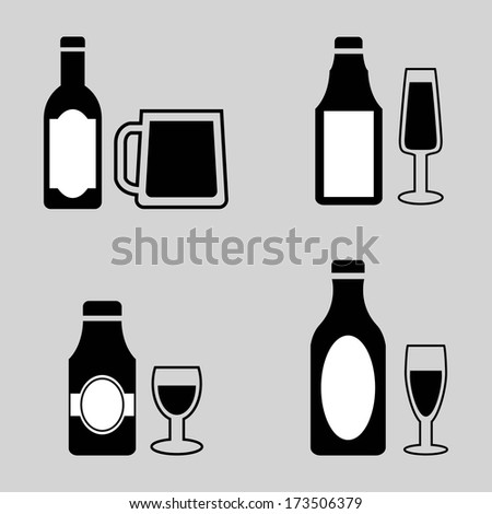 beer design over gray  background vector illustration