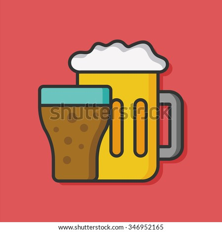 beer drink vector icon