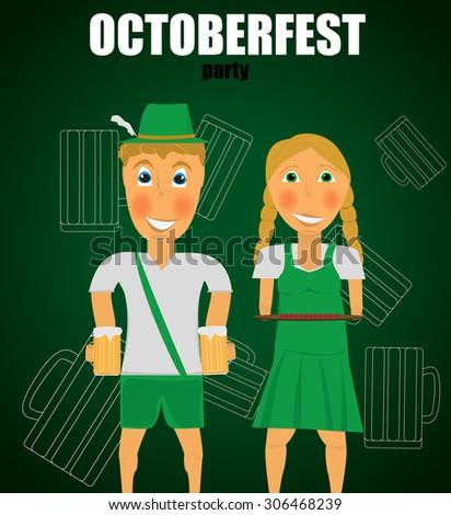 Beer festival - stock vector