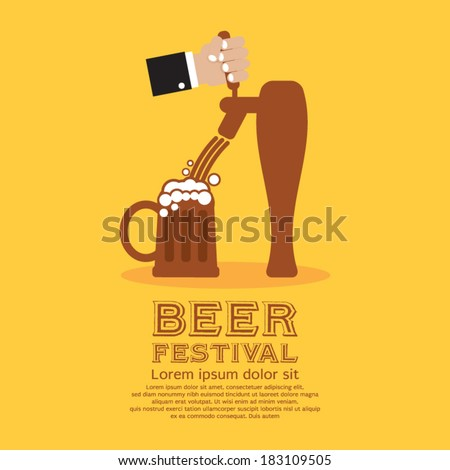 Beer Festival Vector Illustration - stock vector