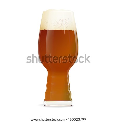 Beer Glass with IPA - one of the types of beer. It can be used for web, printing, advertising and information about your restaurant or brewery.