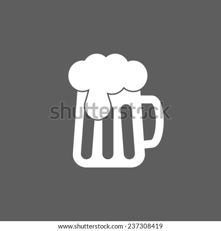 beer icon - stock vector