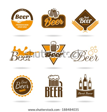 Beer icon set - 2 - stock vector