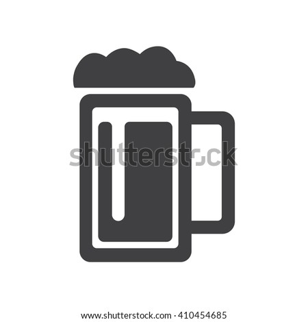 Beer icon Vector Illustration on the white background. - stock vector