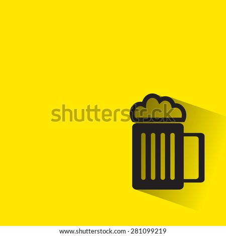 beer icon with long shadow - stock vector