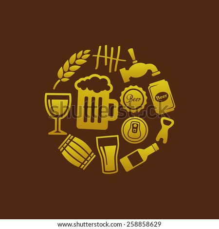beer icons in circle